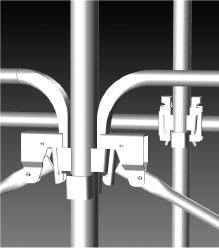 次世代足場ロックシリーズは、施工上の安全性が飛躍的にアップ